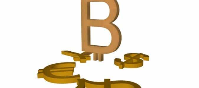 символ биткоина