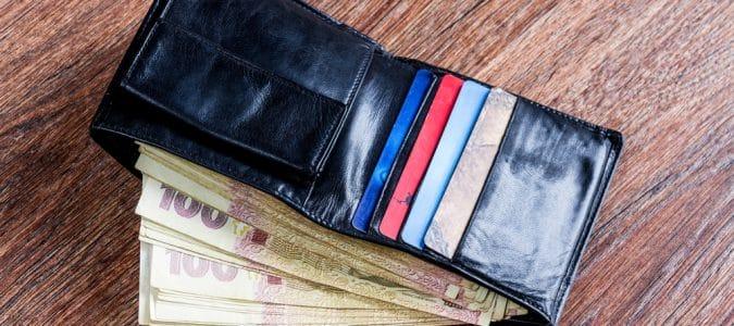 кошелек с гривнами