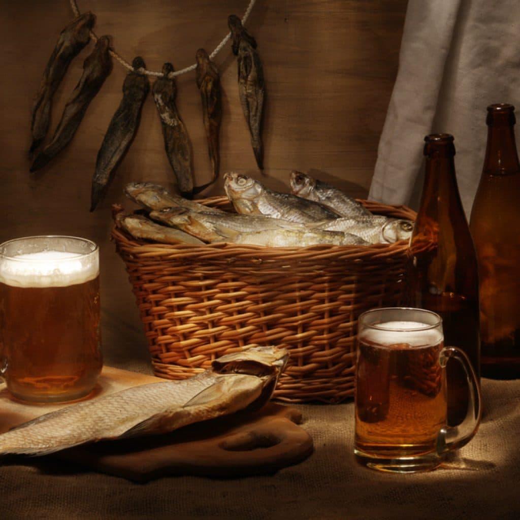пиво и рыба