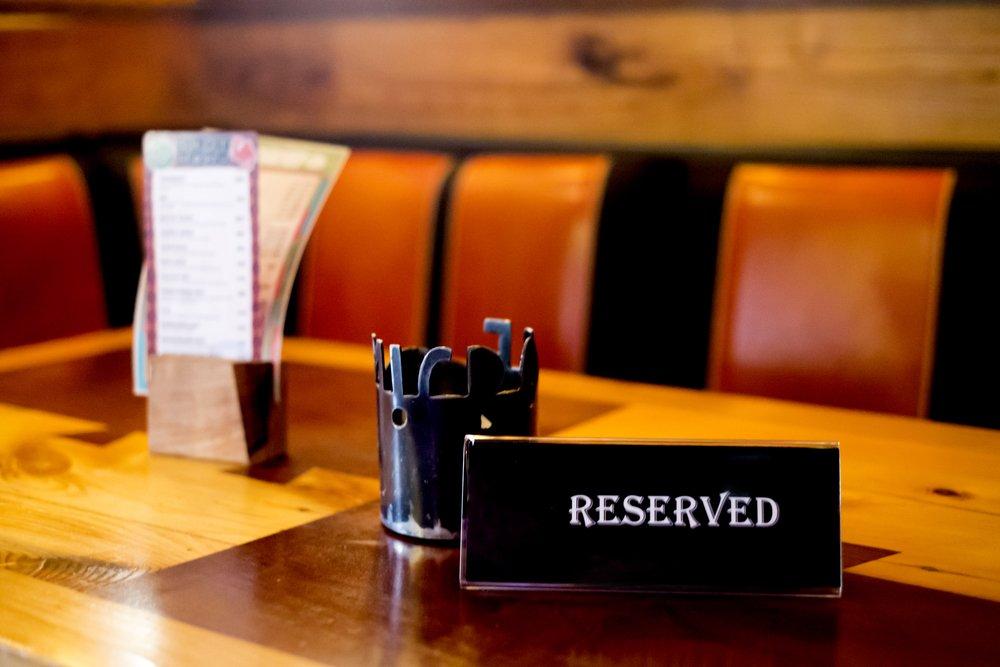 Бронирование места в ресторане